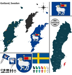 Map of Gotland vector