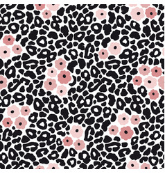 modern black and white leopard seamless pattern vector image