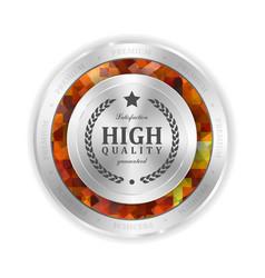 modern mosaic metal label shopping vector image