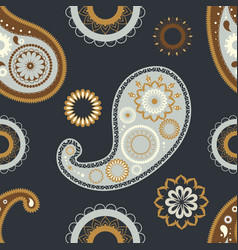oriental paisley seamless patterns floral vector image