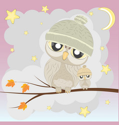 Owl-famely vector