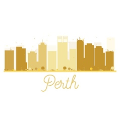 Perth City skyline golden silhouette vector