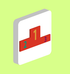 podium computer symbol vector image