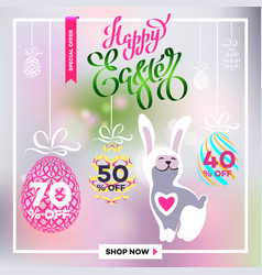 Poster for happy easter 18 vector