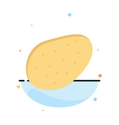 potato food abstract flat color icon template vector image