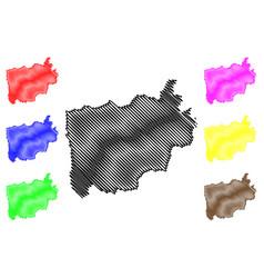 Ratchaburi province map vector