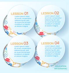 school presentation infographics vector image