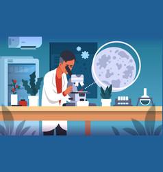 scientist in lab cartoon concept laboratory vector image