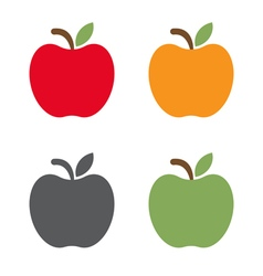 set different apples design vector image