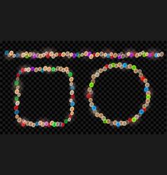 set of fairy lights vector image