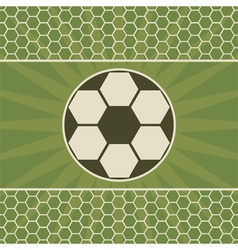 Soccer greeting card with game ball vector