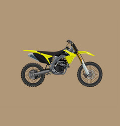 sport moto offroad technical model icon vector image