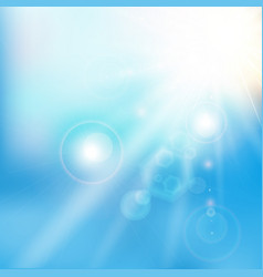 Spring summer sunlight flare abstract blue sky vector