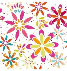 Summer floral seamless patter vector