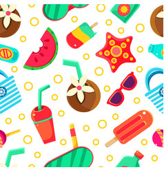 summer seamless pattern on a vector image