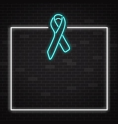 symbol prostate cancer awareness in realistic vector image