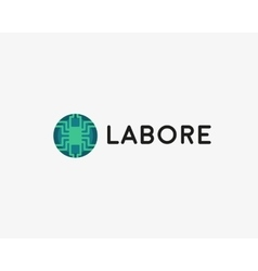 Technology logotype Electronic logo Chip vector