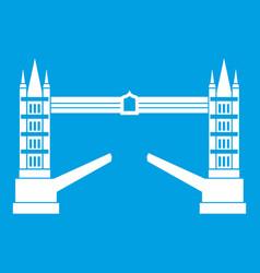 Tower bridge icon white vector
