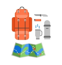 Trip design elements travel icon set vector