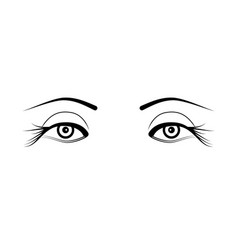 Two eyelash extensions vector