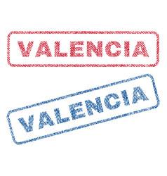 valencia textile stamps vector image