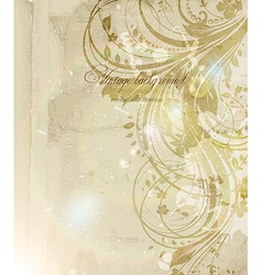 Vintage Background with Floral Pattern vector