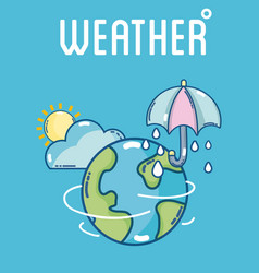 Weather and forecast vector