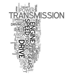 your drive train explained text word cloud concept vector image