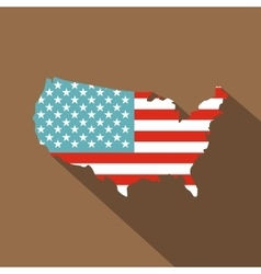 American map icon flat style vector image