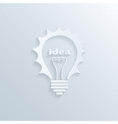idea bulb vector image vector image