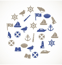 Seaside icons vector image vector image