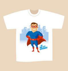 Superhero cartoon character vector