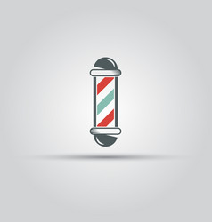 barber shop pole isolated colored icon vector image