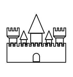 Castle black color icon vector