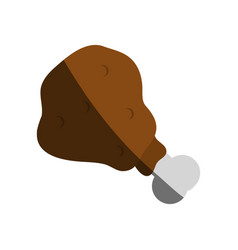 Chicken piece icon image vector