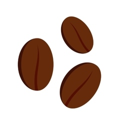Coffee beans icon flat style vector image