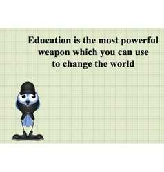 Education change the world vector image