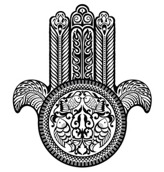 Jewish hamsa sacred amulet vector