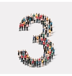 people form number three vector image