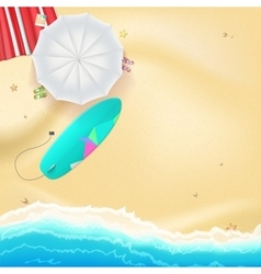 Summer travel background vector image vector image