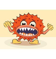 cartoon funny angry bacillus vector image vector image