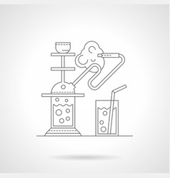 hookah cafe detailed line vector image vector image