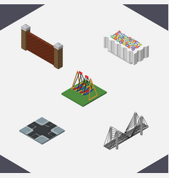 Isometric urban set of barrier seesaw vector