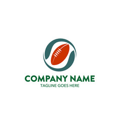 rugby logo vector image