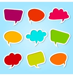 Set of speech colorful bubbles vector image vector image