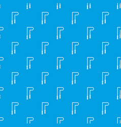skipping rope pattern seamless blue vector image