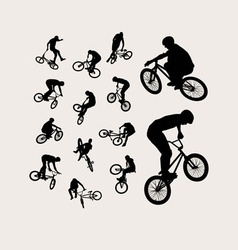 Biker Silhouettes vector image