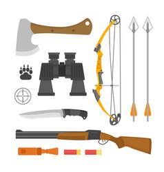 binoculars hunting tourism equipment vision vector image