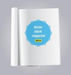 blank open book vector image vector image
