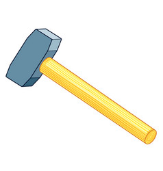 sledge hammer icon vector image vector image